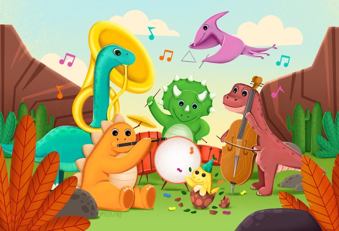 forte_vanessa_children's_illustration_jazz-o-saurus