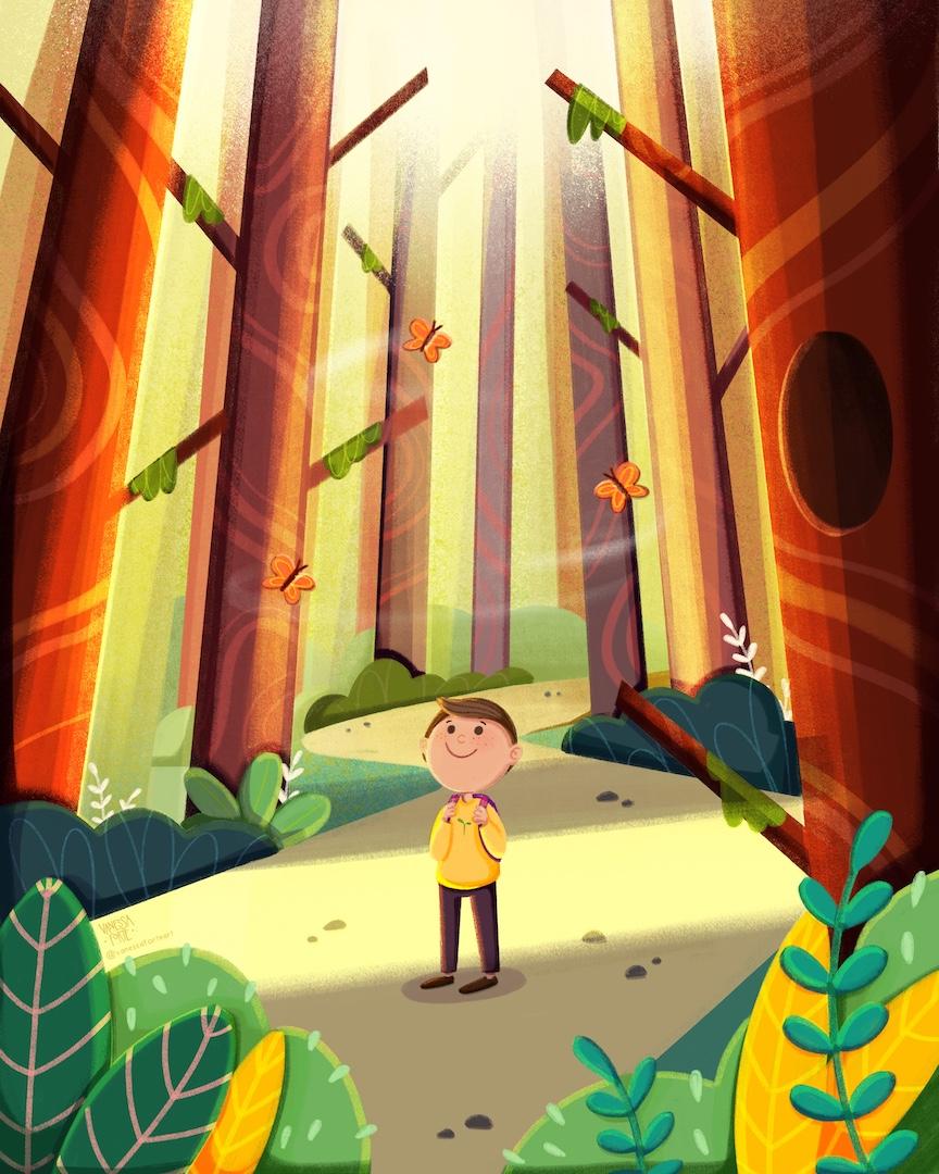 vanessa_forte_childrens_illustrator_magical forest